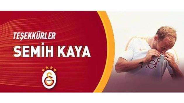 Galatasaray'dan Semih Kaya'ya teşekkür mesajı